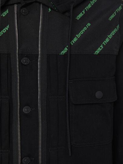 Diesel - D-COSMIC, Black - Denim Jackets - Image 4