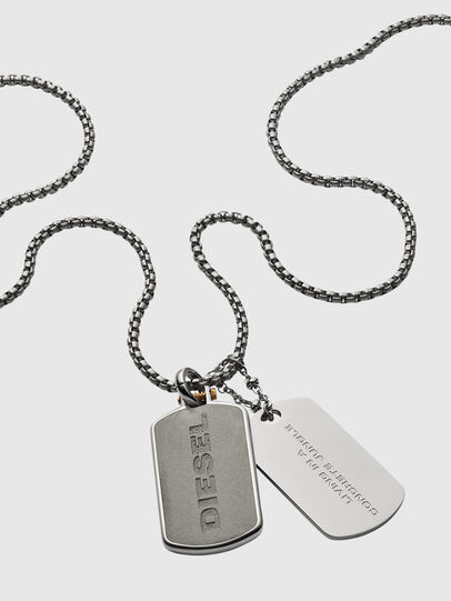 Diesel - DX1194, Silver - Necklaces - Image 2