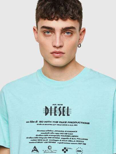 Diesel - T-JUST-E9, Light Blue - T-Shirts - Image 3