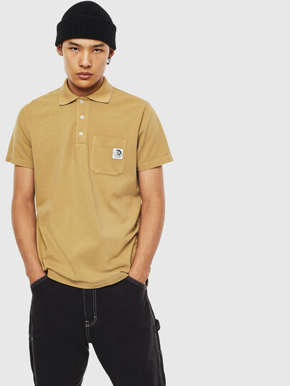 Diesel - T-POLO-WORKY, Light Brown - Polos - Image 1