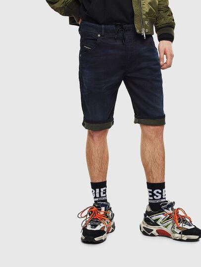 Diesel - D-KROOSHORT JOGGJEANS, Dark Blue - Shorts - Image 6