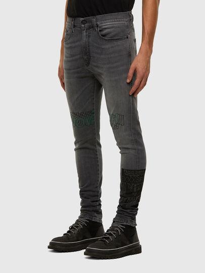 Diesel - D-Amny 009GL, Black/Dark grey - Jeans - Image 8