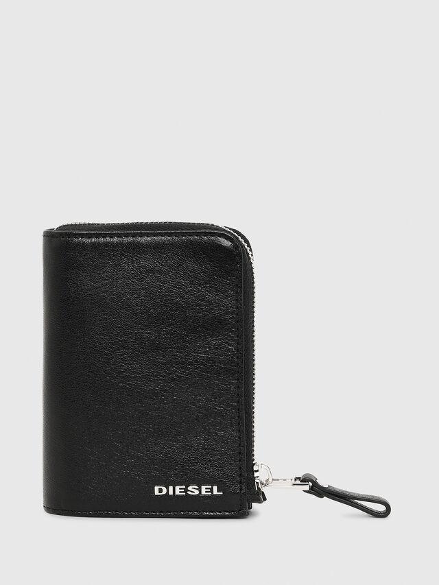Diesel L-12ZIP, Black - Small Wallets - Image 1