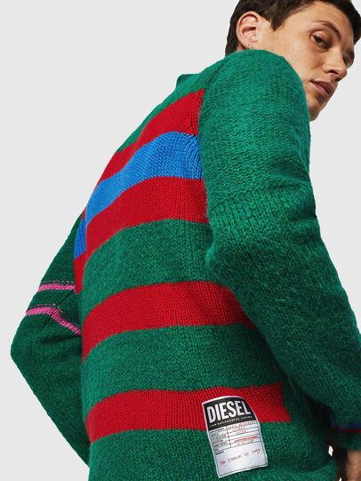 Diesel - K-BOBBY, Dark Green - Knitwear - Image 5