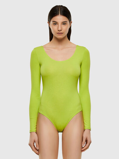 Diesel - UFBY-BODY-LS, Yellow Fluo - Bodysuits - Image 1