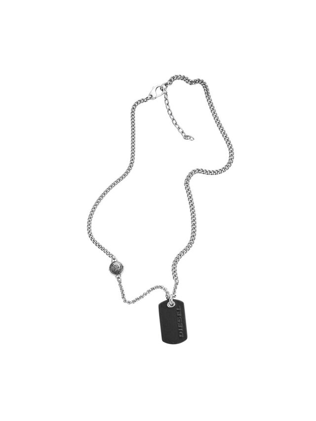 Diesel - NECKLACE DX1012, Silver - Necklaces - Image 1