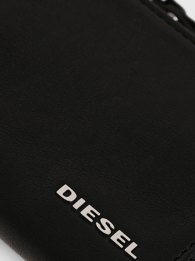 Diesel L-PASSME, Black Leather - Small Wallets - Image 3