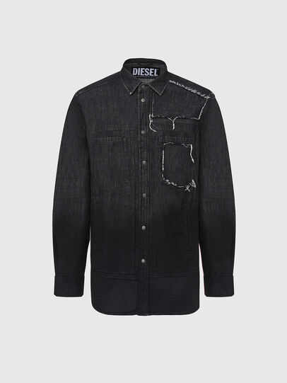 Diesel - D-NESKY, Black - Denim Shirts - Image 1
