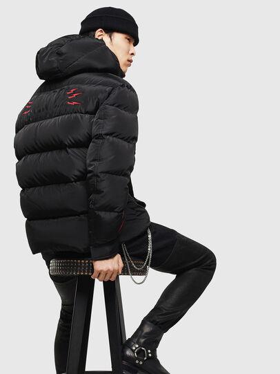 Diesel - CL-W-SMITH-LITM, Black - Winter Jackets - Image 2