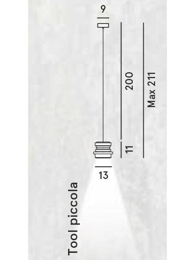 Living TOOL PICCOLA SOSP, Black - Hang Lighting - Image 2