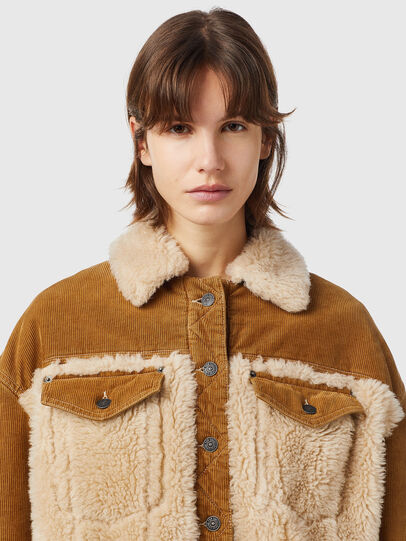 Diesel - W-ARY, Light Brown - Winter Jackets - Image 3