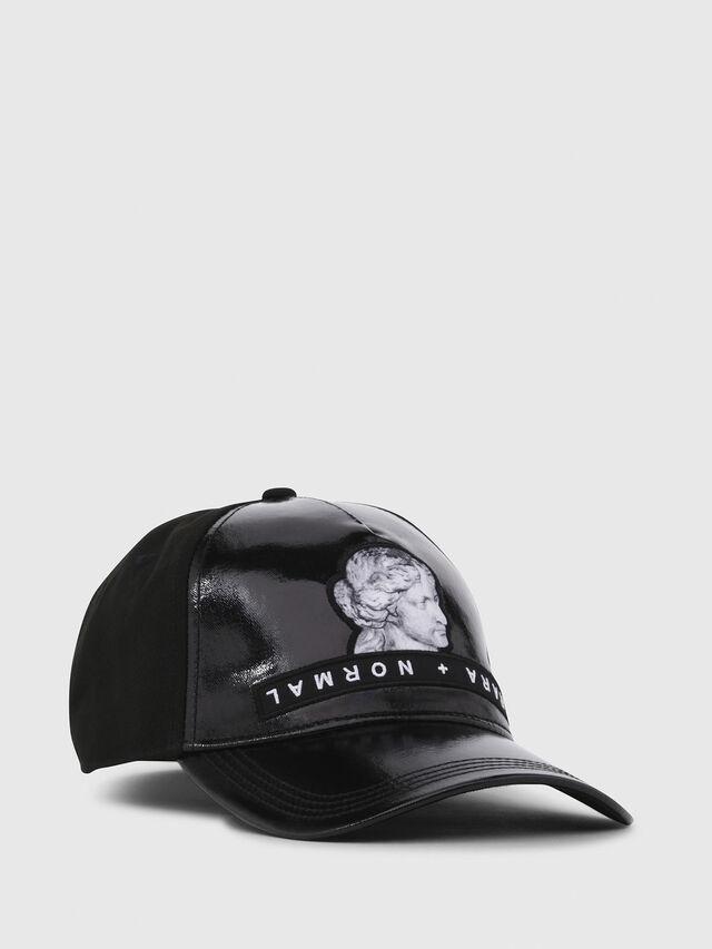 Diesel - C-VENU, Black Leather - Caps - Image 1