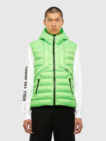Diesel - W-DWAIN-SL, Green Fluo - Winter Jackets - Image 1