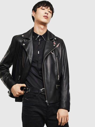 Diesel - CL-L-GOTIV-LITM, Black - Leather jackets - Image 5
