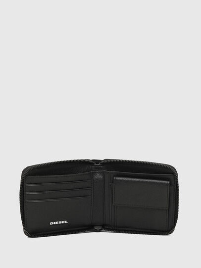 Diesel - ZIPPY HIRESH S, Black/White - Zip-Round Wallets - Image 3
