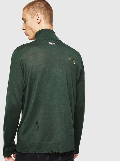 Diesel - K-ECLY, Dark Green - Knitwear - Image 2