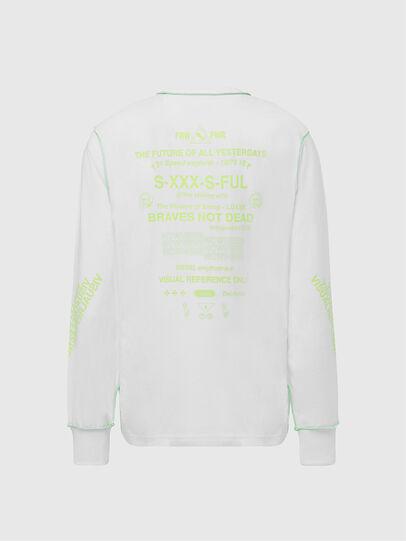Diesel - T-JUSEAM-LS, White - T-Shirts - Image 2