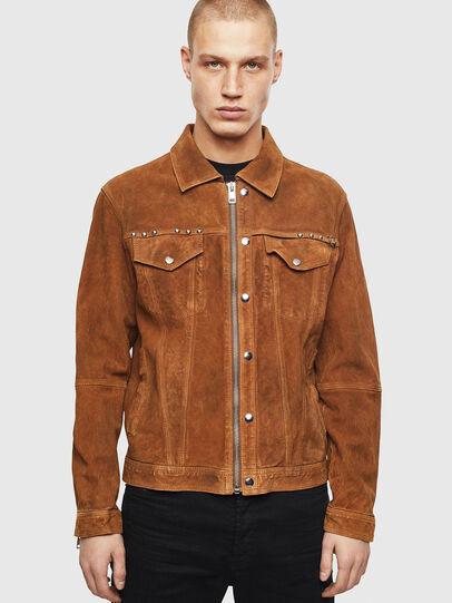 Diesel - L-DEAN, Brown - Leather jackets - Image 1