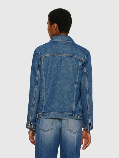 Diesel - NHILL-C1, Medium blue - Denim Jackets - Image 4