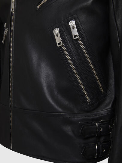 Diesel - L-GARRETT, Black - Leather jackets - Image 4