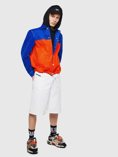 Diesel - J-BELL, Blue/Red - Jackets - Image 7
