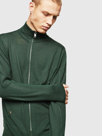 Diesel - K-ECLY, Dark Green - Knitwear - Image 4