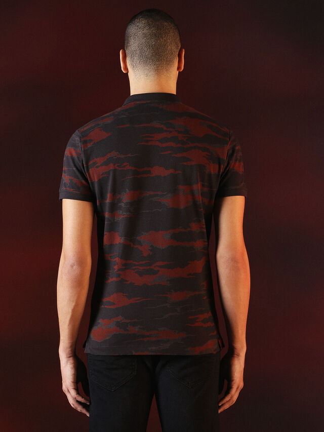 Diesel - DVL-POLO-SPECIAL COLLECTION, Red/Black - Polos - Image 3
