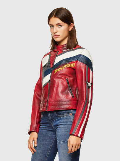 Diesel - L-POLLY, Red - Leather jackets - Image 8