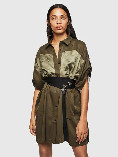 Diesel - D-TIEP, Military Green - Dresses - Image 1