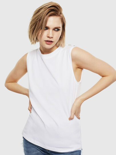 Diesel - T-LESLEE-A, White - T-Shirts - Image 1