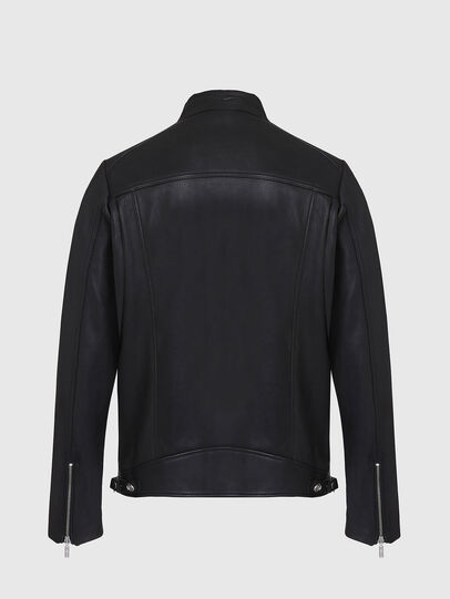 Diesel - L-CASE-KA, Black - Leather jackets - Image 2