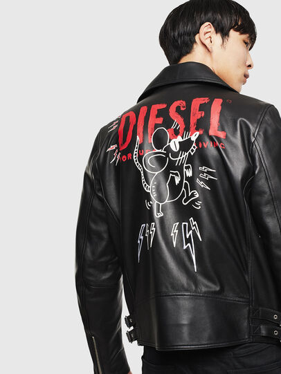 Diesel - CL-L-GOTIV-LITM, Black - Leather jackets - Image 2