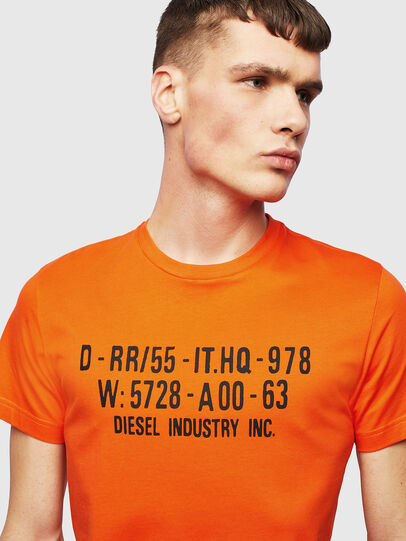 Diesel - T-DIEGO-S2, Orange - T-Shirts - Image 3