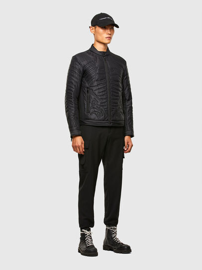 Diesel - W-SHARK, Black - Winter Jackets - Image 6