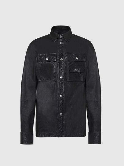 Diesel - L-MALIK, Black - Leather jackets - Image 1
