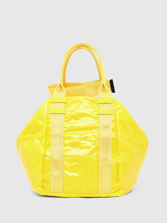 Diesel - D-CAGE SHOPPER, Yellow - Shopping and Shoulder Bags - Image 2