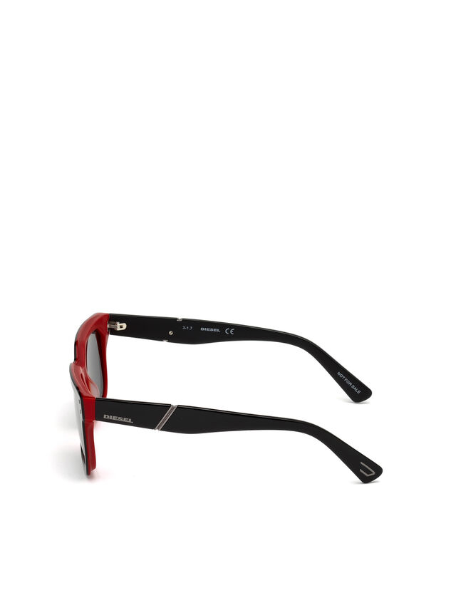 Diesel - DL0253, Black/Red - Sunglasses - Image 3
