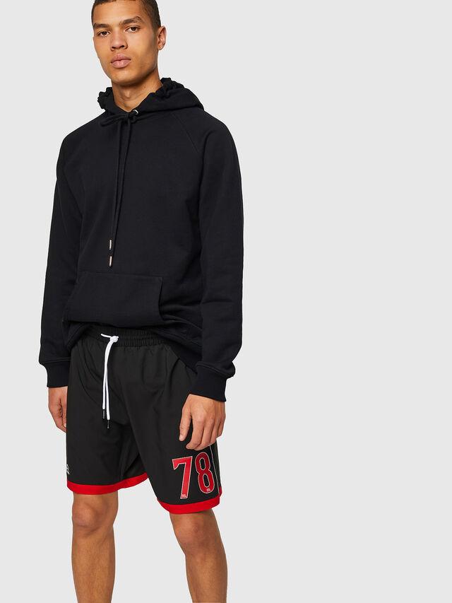 Diesel - BMBX-PLAYSOCC, Black/Red - Swim shorts - Image 4