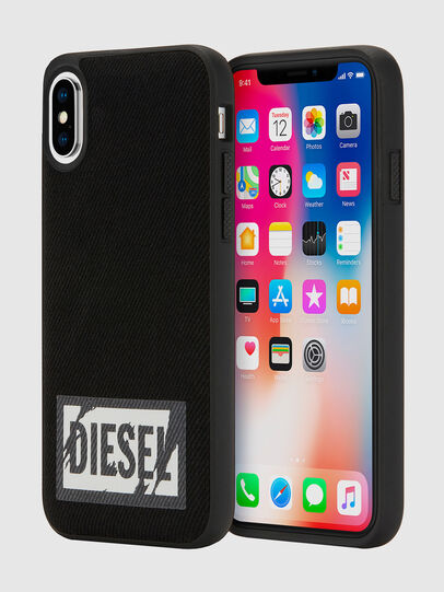 Diesel - BLACK DENIM IPHONE X CASE,  - Cases - Image 1