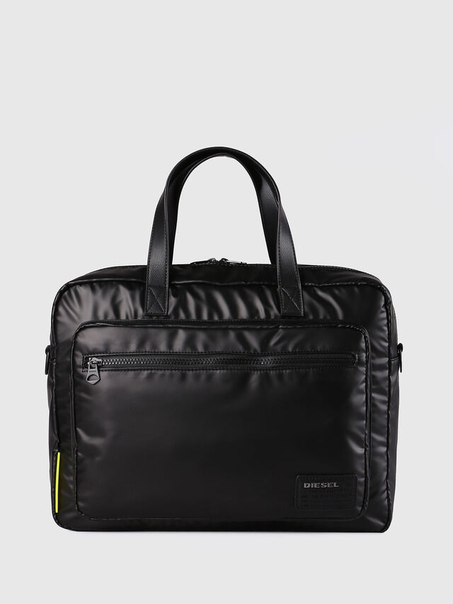 Diesel - F-DISCOVER BRIEFCASE, Black - Briefcases - Image 1