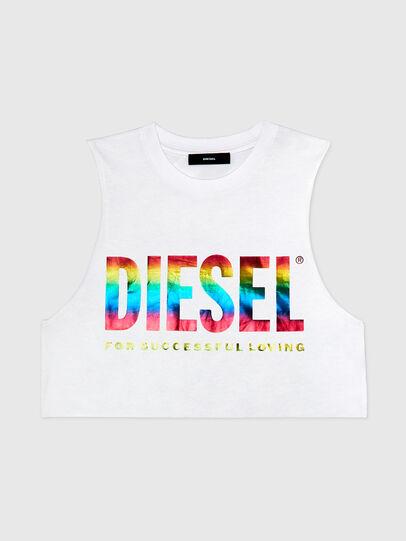 Diesel - BFOWT-MUSCLE-ROUNDIE, White - Tops - Image 1