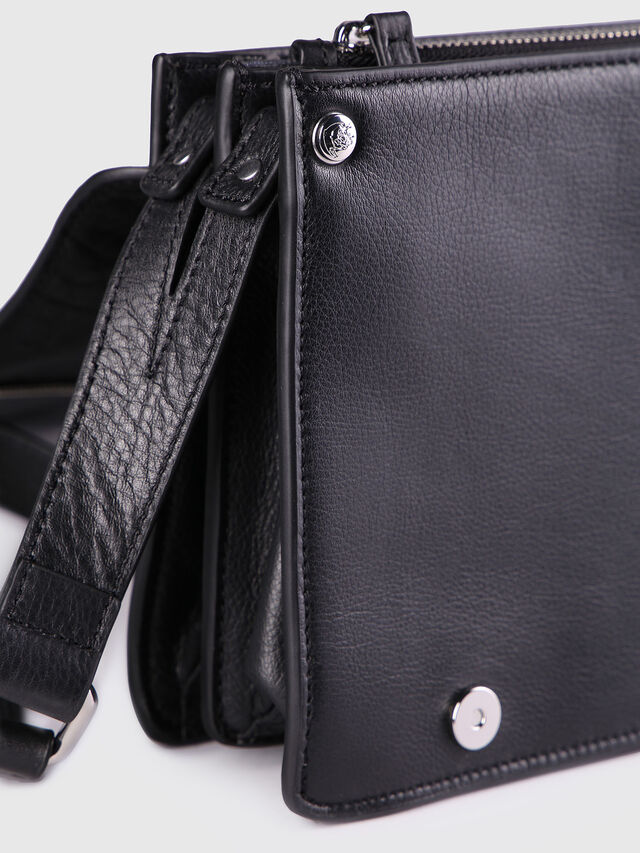 Diesel - LE-MISHA, Black Leather - Crossbody Bags - Image 3