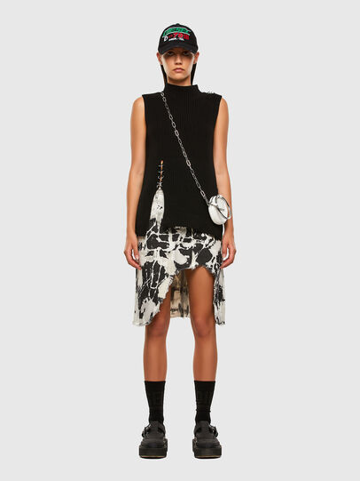 Diesel - DE-ELLYOT-SP, Black/White - Skirts - Image 5