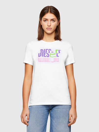 Diesel - T-SILY-K6, White - T-Shirts - Image 1
