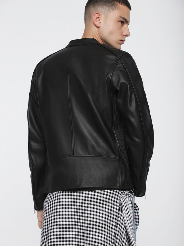 Diesel L-QUAD, Black Leather - Leather jackets - Image 2