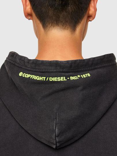 Diesel - S-GIRRIB-HOOD-A71, Black - Sweaters - Image 4