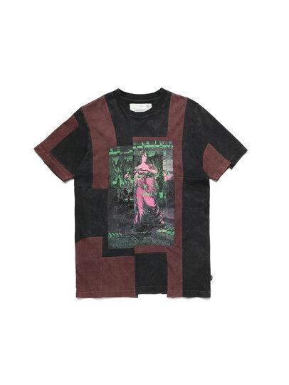 Diesel - D-FRANK&STEIN, Red/Black - T-Shirts - Image 1