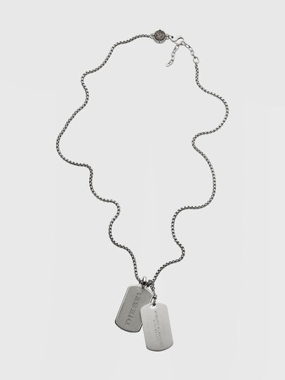 Diesel - DX1194, Silver - Necklaces - Image 1