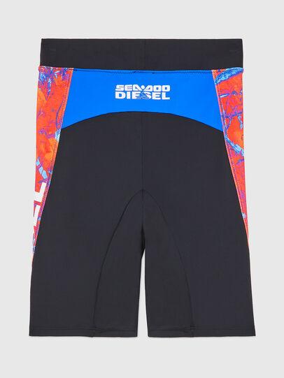 Diesel - BFPN-CYCLERDOO, Black/Orange - Swim shorts - Image 2