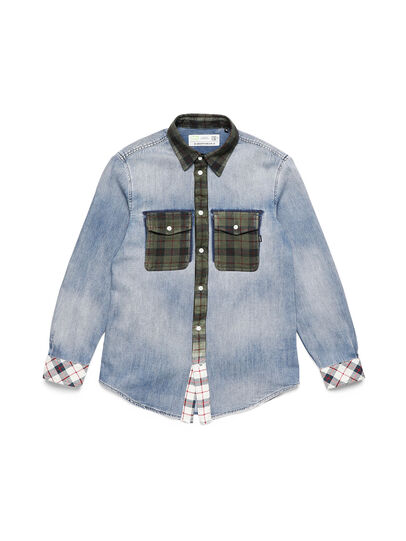 Diesel - D-DEEPCHECK-A, Light Blue - Denim Shirts - Image 1